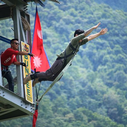 bungee jump pokhara