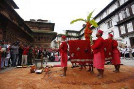 Fulpati Day Dashain Kathmand Darbar square